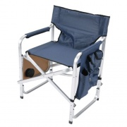Faulkner Directors Chair Blue w/Tray   NT03-0480  - Camping and Lifestyle