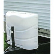 Camco Propane Tank Cover 30 lb. Polar White   NT06-0631  - LP Tank Covers