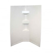 Lippert Parchment 34X34X68 Neo Tile Shower Surround   NT10-5727  - Tubs and Showers - RV Part Shop USA