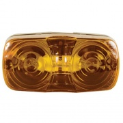 Optronics Double Bullseye Clearance/Marker Lite Amber   NT18-1007  - Towing Electrical - RV Part Shop USA