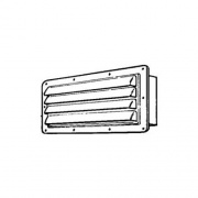 Ventline/Dexter Range Hood Louvered Vent Colonial White   NT22-0417  - Ranges and Cooktops