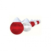 Polymer 6-Light Globes Red/White   NT69-6838  - Patio Lighting