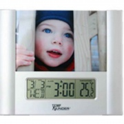 Minder Research LCD Clock Thermometer & Photo   NT95-7462  - Interior Accessories