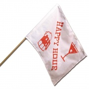 "Camco Happy Hour Flag - 12\\"" x 18\\""  NT03-1062  - Exterior Accessories - RV Part Shop USA"