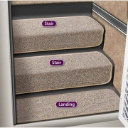 "Prest-O-Fit 8\"" Step Hugger Landing Step Rug Sandstone   NT04-0450  - Rugs - RV Part Shop USA"
