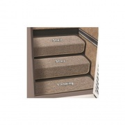 "Prest-O-Fit 6\""Step Hugger Landing Step Rug Sandstone   NT04-0456  - Rugs - RV Part Shop USA"
