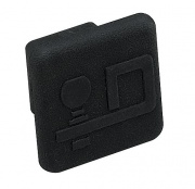 """DrawTite Rubber Economy Receiver Tube Cover. D Logo 1.25\\""""   NT14-7326  - Hitch Extensions - RV Part Shop USA"""
