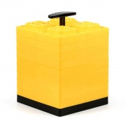 Camco Yellow Fasten 2x2 Leveling Block for Single Tires Pack of 10   NT15-1442  - Chocks Pads and Leveling - RV Part Shop USA