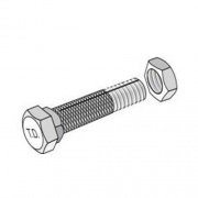 Tie Down Engineering 8Pk Strap Bolt & Nut   NT16-0030  - RV Storage