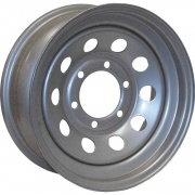 Americana 15X6 Trailer Wheel Mini Modular 5H-4.5 Star Silver   NT17-0042  - Wheels and Parts