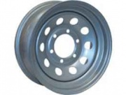 Americana 16X6 Trailer Wheel Mini Modular 6H 5.5 Star Silver   NT17-0045  - Wheels and Parts