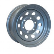 Americana 15X5 Trailer Wheel Mini Modular 5H-5.0 White Striped   NT17-0327  - Wheels and Parts