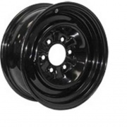 Americana 15X6 Trailer Wheel Conventional 6H-5.5 Black 3.65P   NT17-0331  - Wheels and Parts