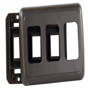 JR Products Triple Switch Base & Face Plate Brown   NT19-0157  - Switches and Receptacles - RV Part Shop USA