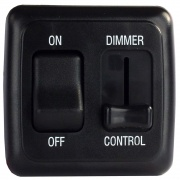 JR Products Dimmer/On-Off Rocker Sw Assembly - Black   NT19-0163  - Switches and Receptacles - RV Part Shop USA