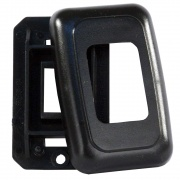 JR Products Single Switch Base & Face Plate Black   NT19-0166  - Switches and Receptacles - RV Part Shop USA