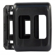 JR Products Double Switch Base & Face Plate Black   NT19-0167  - Switches and Receptacles - RV Part Shop USA