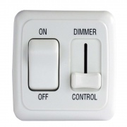 JR Products Dimmer/On-Off Rocker Sw Assembly - White   NT19-0178  - Switches and Receptacles - RV Part Shop USA