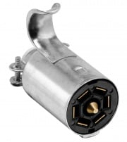 Bargman 7-Way Metal Connector Trailer End   NT19-0907  - Towing Electrical
