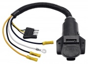 Tow Ready 4-Flat To 7-Way Flat Pin ConnectorAdapter Plastic   NT19-1047  - Towing Electrical