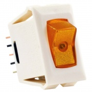 JR Products 1 Pk 12V On/Off Switch Amber /Ivory   NT19-1855  - Switches and Receptacles