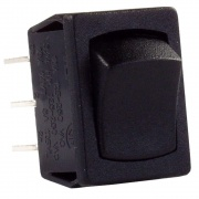 JR Products 1 Pk 12V On/On Mini DPST- Black   NT19-1879  - Switches and Receptacles