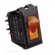 RV Designer 10A Black w/Amber Rocker Switch   NT19-2450  - Switches and Receptacles