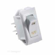 RV Designer 10A White Rocker Switch w/Gold   NT19-2452  - Switches and Receptacles - RV Part Shop USA