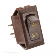 RV Designer 10A Brown Rocker Switch w/Gold   NT19-2454  - Switches and Receptacles - RV Part Shop USA