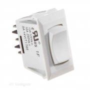 RV Designer 10A White Rocker Switch   NT19-2458  - Switches and Receptacles