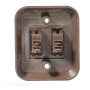 """RV Designer 3.53\\""""X3\\"""" Wall Plate Switch Double   NT19-2481  - Switches and Receptacles"""