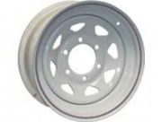 Americana 15X5 Trailer Wheel Spoke 5H-4.5 White N/Str   NT21-0404  - Wheels and Parts