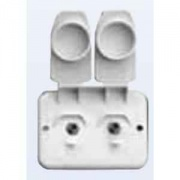 Prime Products Compact Duplex TV Receptacle White   NT24-1059  - Televisions - RV Part Shop USA