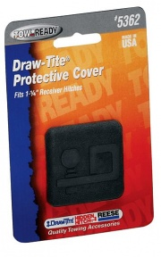 """DrawTite Rubber Economy Receiver Tube Cover. D Logo 1.25\\""""   NT94-0397  - Hitch Extensions - RV Part Shop USA"""