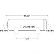 Firestone Ind 2 Gallon Air Tank   NT94-3847  - Handling and Suspension - RV Part Shop USA