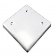 "JR Products 4-1/2\\"" Square S-O Cap Polar White   NT95-2470  - Slideout Parts - RV Part Shop USA"