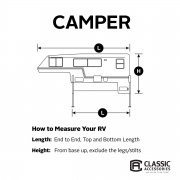 Classic Accessories PolyPro 3 Truck Camper Cover 6-8'  NT01-0918  - Truck Camper Covers