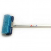 """Adjust-A-Brush 4 Ft Handle With 8\\"""" Medium Brush  NT02-0111  - Cleaning Supplies"""