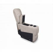 Lippert Console, Cougar 2016 8X34X40 (Grantland Doeskin Tan Topstitch)  NT03-2083  - Interior Chairs