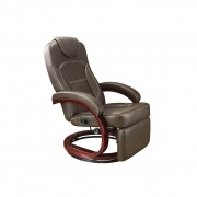 Lippert Xl Euro Chair With Footrest 31X33X40 (Brookwood Chestnut)  NT03-2186  - Interior Chairs