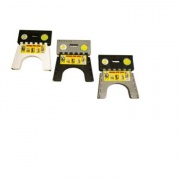 B&R Plastics 6Pk Folding Stools Black/White/Grey  NT03-2317  - Step and Foot Stools - RV Part Shop USA