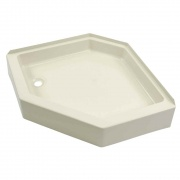 Lippert Parchment Shower Pan 24X40 Left-Hand   NT10-1771  - Tubs and Showers