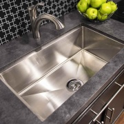 Lippert 27X16X7 Stainless Steel Single Bowl Square Sink Farmers (Under Mount)  NT10-1956  - Sinks