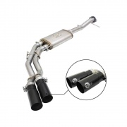 Advanced Flow Engineering Rebel Series 3 IN to 2-1/2 IN 409 Stainless Steel Cat-Back Exhaust System w/Black Tip  NT71-3096  -...