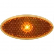 Optronics LED 2X4 Clearance/Marker Light Amber Reflex Low Profile Black  NT71-6671  - Towing Electrical - RV Part Shop USA