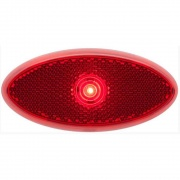 Optronics LED 2X4 Clearance/Marker Light Red Reflex Low Profile Black  NT71-6673  - Towing Electrical - RV Part Shop USA