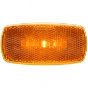 Optronics LED Clearance/Marker Light Oval Black Base Amber   NT71-6874  - Towing Electrical - RV Part Shop USA