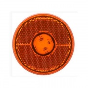 Optronics LED 2 1/2 Clearance/Marker Light Amber Reflex Hardware Black  NT71-6999  - Towing Electrical - RV Part Shop USA