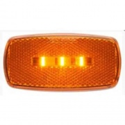 Optronics LED Clearance/Marker Light Oval Black Base Amber   NT71-7112  - Towing Electrical - RV Part Shop USA