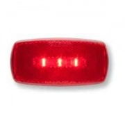 Optronics LED Clearance/Marker Light Oval Black Base Red   NT71-7125  - Towing Electrical - RV Part Shop USA